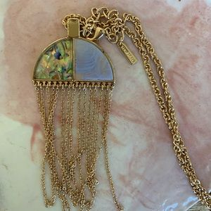 Baublar dangly gold necklace